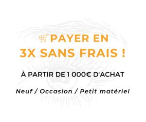 Paiement en trois fois sans frais à partir de 1000€ d'achat Vidéré