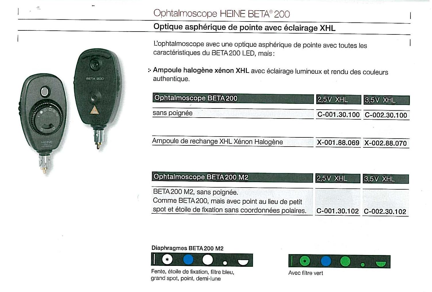 ophtalmoscope Heine Beta 200